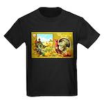 Thanksgiving Americana Kids Dark T-Shirt
