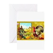 Thanksgiving Americana Greeting Card