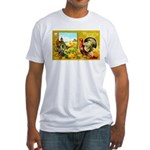 Thanksgiving Americana Fitted T-Shirt