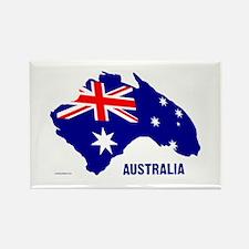 Australia Shape Flag Rectangle Magnet