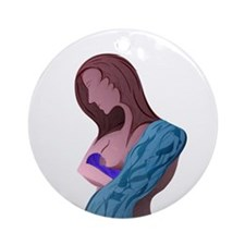 Nursing Mother Ornament (Round)