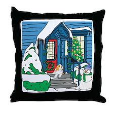 Welcome St Bernard Throw Pillow