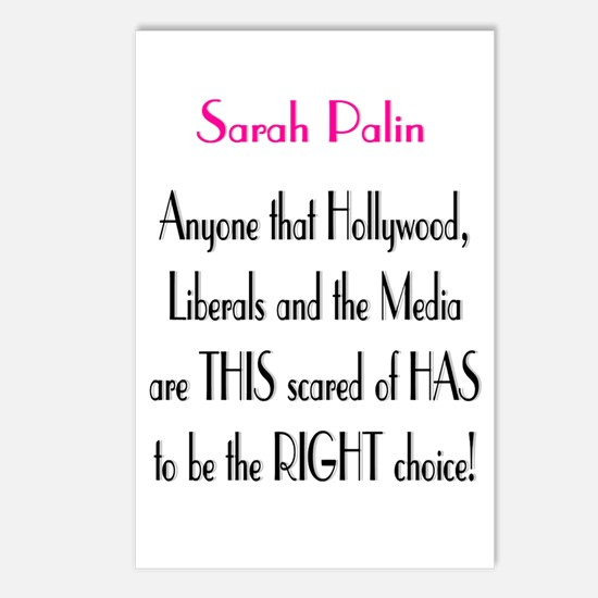 Sarah Palin - MSM Hollywood.. Postcards (Package o