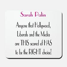 Sarah Palin - MSM Hollywood.. Mousepad