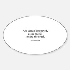 GENESIS 12:9 Oval Decal