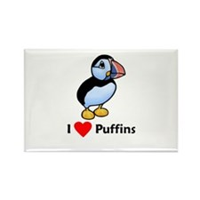 I Love Puffins Rectangle Magnet