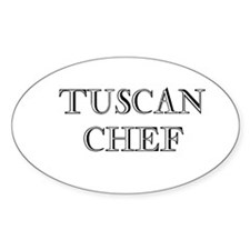Tuscan Chef Oval Decal