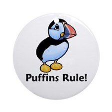 Puffins Rule! Ornament (Round)