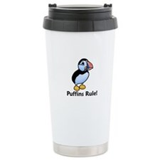 Puffins Rule! Thermos Mug