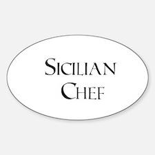 Sicilian Chef Oval Bumper Stickers