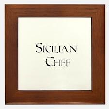 Sicilian Chef Framed Tile