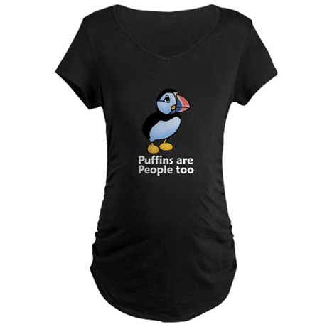 Puffins are People too Maternity Dark T-Shirt
