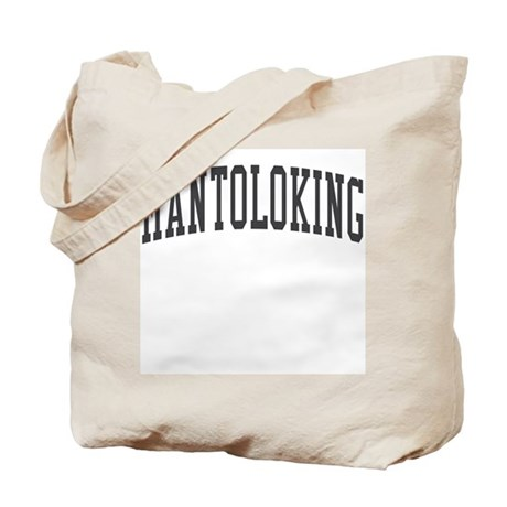 Mantoloking New Jersey NJ Black Tote Bag