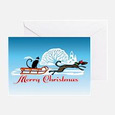 Christmas Pet Parade Greeting Card