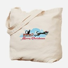 Christmas Pet Parade Tote Bag
