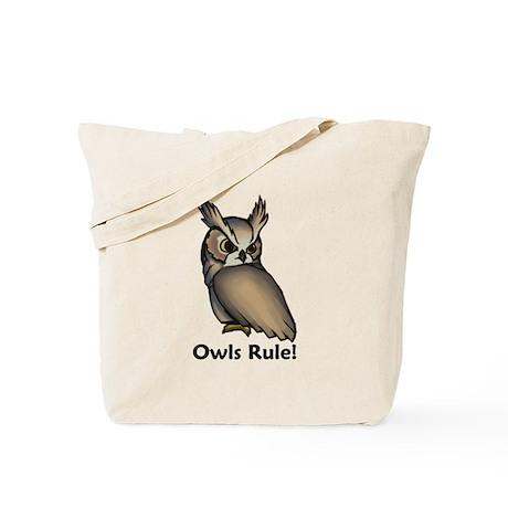 Owls Rule! Tote Bag
