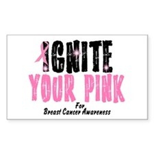 Ignite Your Pink 3 Rectangle Decal