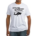 Prayer Never Did This Fitted Tee Shirt