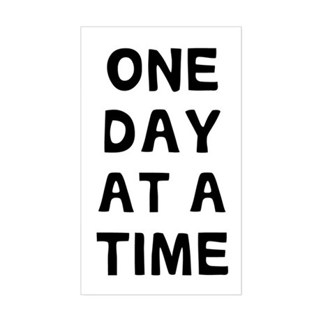 One Day Sticker (Rectangle)