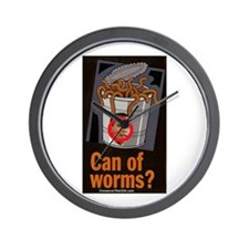 """Can Of Worms"" Wall Clock"
