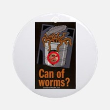 """""""Can Of Worms"""" Ornament (Round)"""