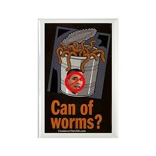 """""""Can Of Worms"""" Rectangle Magnet (100 pack)"""