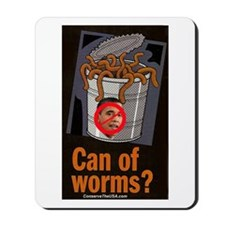 """""""Can Of Worms"""" Mousepad"""