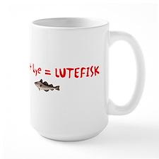 Cod + Lye = LUTEFISK Mug