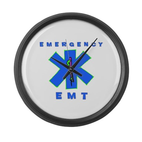 Emergency EMT Large Wall Clock