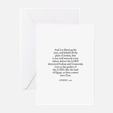 GENESIS  13:10 Greeting Cards (Pk of 10)
