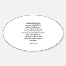 GENESIS 13:10 Oval Decal