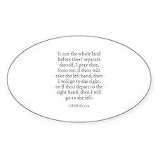 GENESIS 13:9 Oval Decal