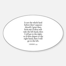 GENESIS 13:9 Oval Decal