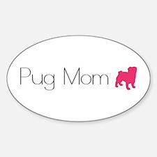 Pug Mom Oval Decal