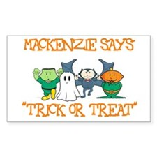 Mackenzie Says Trick or Treat Rectangle Decal