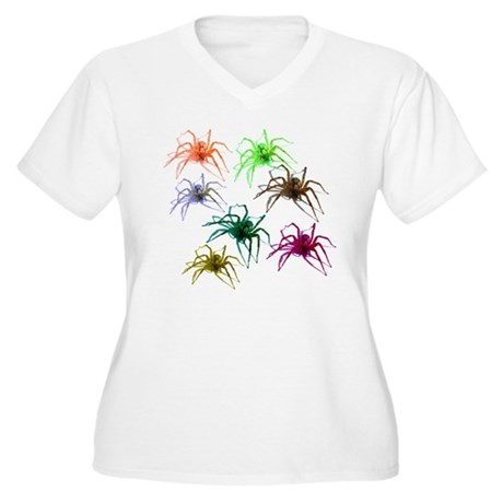 Spider Shirt (Ver 2) Colorful Women's Plus Size V-