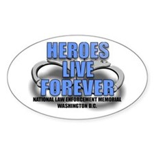 HEROES Oval Decal