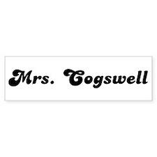 Mrs. Cogswell Bumper Bumper Sticker