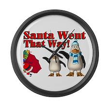 Santa Went Large Wall Clock