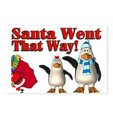 Santa Went Postcards (Package of 8)