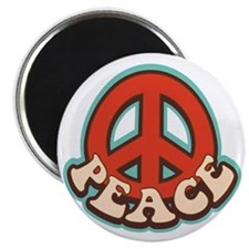 """Hippy Peace 2.25"""" Magnet (10 pack)"""