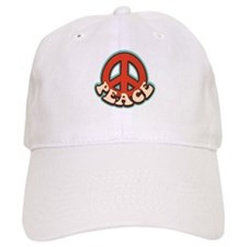 Hippy Peace Baseball Baseball Cap