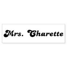 Mrs. Charette Bumper Bumper Sticker