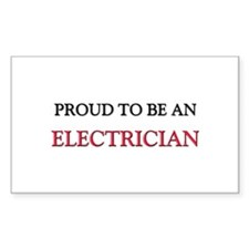 Proud To Be A ELECTRICIAN Rectangle Decal