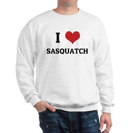 I Love Sasquatch Sweatshirt