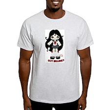 Noushi the Japanese Zombie Ash Grey T-Shirt