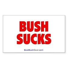"""""""Bush Sucks"""" Rect Sticker (10)"""