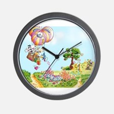 Diddl Balloon Trip Wall Clock