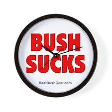 """Bush Sucks"" Wall Clock"