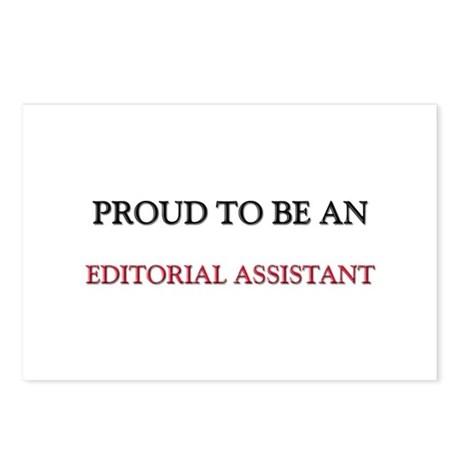 Proud To Be A EDITORIAL ASSISTANT Postcards (Packa